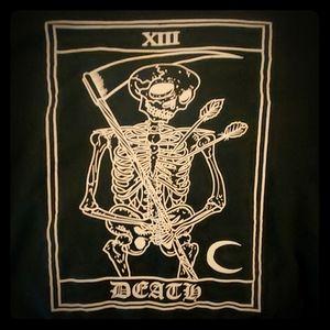 Romwe Death Tarrot card sweater